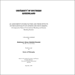 Phd thesis in islamic banking and finance