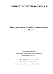 Phd thesis on employee retention
