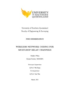 thesis on network coding Al-fanek, issa (2014) collaborative coding techniques with analog network  coding in wireless y-channel-relay networks masters thesis, concordia.