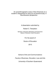 auto-ethnographic thesis Writing the ordinary: auto-ethnographic tales of an occupational therapist sally denshire a thesis submitted in fulfilment of the requirements of the degree of.