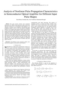 optical amplifier research paper In wavelength division multiplexed (wdm) transmission systems the following categories of optical amplifiers are used: erbium doped fiber amplifier (edfa), raman amplifier (raman) and semiconductor optical amplifier (soa.