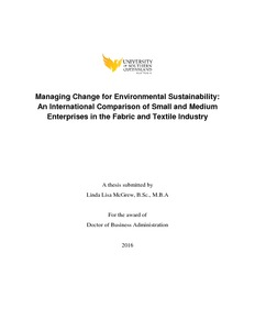 Managing change for environmental sustainability: an international