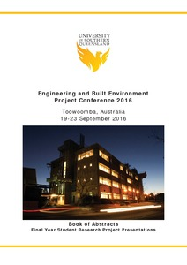 Engineering and built environment project conference 2016: book of