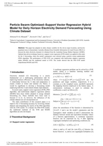 Particle swarm optimized–support vector regression hybrid model for