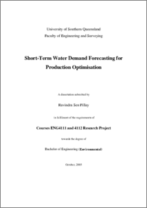 Short-term water demand forecasting for production optimisation
