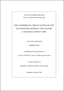 The commercial implications of the NZ surveyor-general's