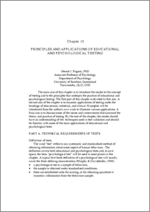 Principles and applications of educational and psychological testing